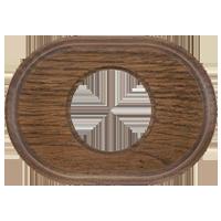 Рамка Овал (дуб коричневый)