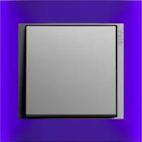 Рамка Event Opaque (пластик матово-синий/алюминий)