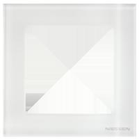 Рамка Sky Niessen (белое стекло)