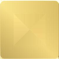 Рамка Unica Studio Metal (золото/антрацит)