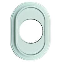 Рамка Venezia Oval (белый лакированный)