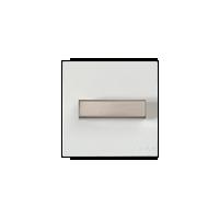 Клавиша Venezia Metal Square (сталь / белый)