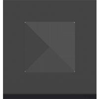 Рамка Unica Pure (чёрное стекло/антрацит)