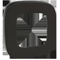 Рамка Valena Allure (черная сталь)