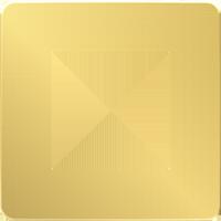 Рамка Unica Studio Metal (золото/белый)
