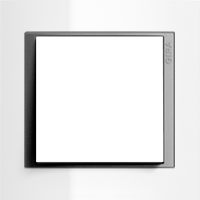 Рамка Event Opaque (пластик матово-прозрачно-белый/алюминий)