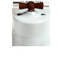 Клавиша Garby Modera (белый фарфор, ручка старое дерево)