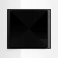 Рамка Event Opaque (пластик матово-прозрачно-белый/антрацит)