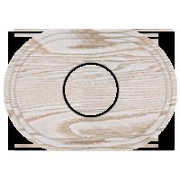 Рамка Овал (выбеленный дуб с золотой патиной)