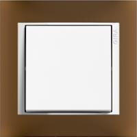 Рамка Event Opaque (пластик матово-коричневый/глянц.белый)
