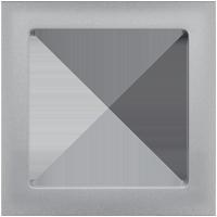 Рамка Q.3 (алюминиевый, с эффектом бархата)