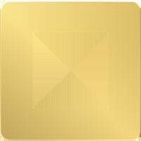 Рамка Unica Studio Metal (золото/бежевый)