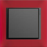Рамка Event Opaque (пластик матово-красный/антрацит)