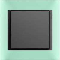 Рамка Event Opaque (пластик матово-салатовый/антрацит)