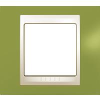 Рамка Unica Хамелеон (пластик фисташковый/бежевый)