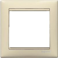 Рамка Valena (пластик кремовый глянцевый)