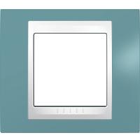 Рамка Unica Хамелеон (пластик синий/белый)