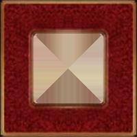 Рамка Vintage Corinto (красная помпея/блестящее золото)