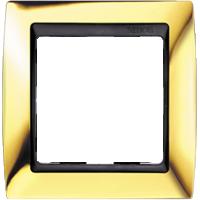 Рамка Simon 82 (золото с черной вставкой)