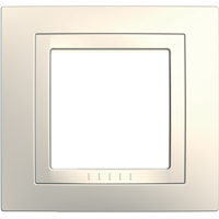 Рамка Unica (пластик кремовый глянцевый)