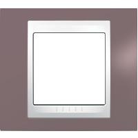 Рамка Unica Хамелеон (пластик лиловый/белый)