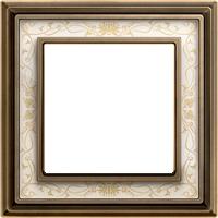 Рамка Dynasty (античная латунь / белая роспись)