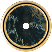 Рамка Palazzo (пластик под черный мрамор/золото 24 карата)