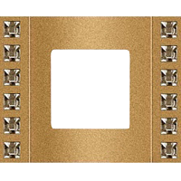 Рамка Crystal De Luxe (песочный/блестящее золото)