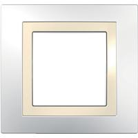 Рамка Unica (пластик белый/кремовый)
