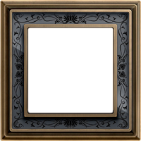 Рамка Dynasty (античная латунь / черная роспись)