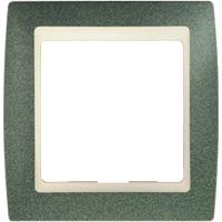 Рамка Simon 82 (зеленая текстура с бежевой вставкой)