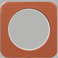 Рамка R1 (кожа/белый)