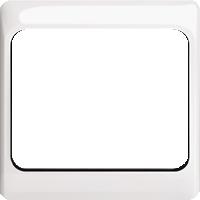 Рамка Alpha Exclusive (пластик белый глянец)
