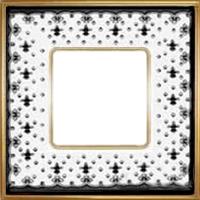 Рамка Vintage Porcelain (черная лилия/блестящее золото)