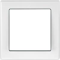 Рамка M-Smart (пластик белый глянцевый)