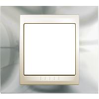 Рамка Unica Хамелеон (серебро/бежевый)