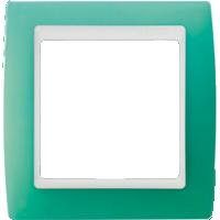 Рамка Simon 82 (зеленый полупрозрачный)