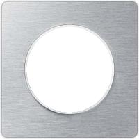 Рамка Odace (полированный алюминий/белая)
