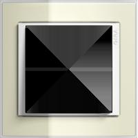 Рамка Event Clear (пластик прозрачный песочный-глянц.белый)
