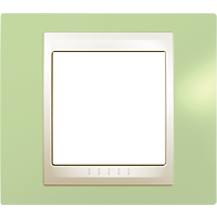 Рамка Unica Хамелеон (пластик зеленое яблоко/бежевый)