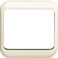 Рамка Alpha Nea (пластик кремовый глянец)