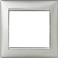 Рамка Valena (пластик под алюминий-серебр.штрих)