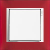 Рамка Event Opaque (пластик матово-красный/глянц.белый)