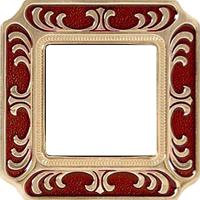 Рамка Smalto Italiano Siena (рубиново-красный)