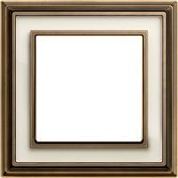 Рамка Dynasty (античная латунь / белое стекло)