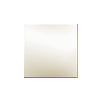 Клавиша Unica Quadro (пластик кремовый глянцевый)