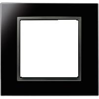Рамка B.7 Glass (черное стекло)