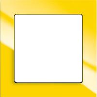 Рамка Busch-axcent (пластик желтый глянец)
