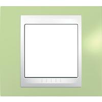 Рамка Unica Хамелеон (пластик зеленое яблоко/белый)