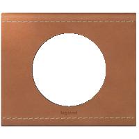 Рамка Celiane Кожа/Текстиль (крем-карамель)